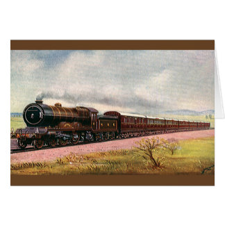 Vintage American West, Western Frontier Train Card
