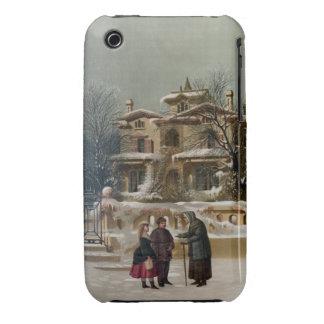 Vintage American Winter Christmas Scene iPhone 3 Cases