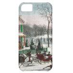 Vintage American Winter Scene iPhone 5C Covers