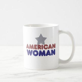 Vintage American Woman Coffee Mug
