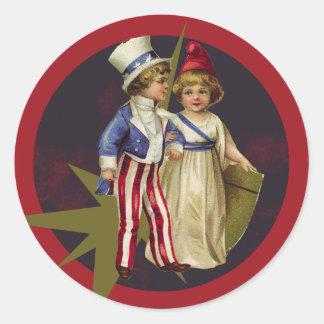 Vintage Americana Classic Round Sticker
