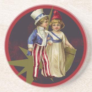 Vintage Americana Drink Coaster