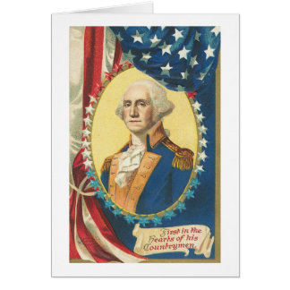 Vintage Americana George Washington (4) Card