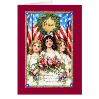 Vintage Americana Image on T shirts, Mugs, More Card