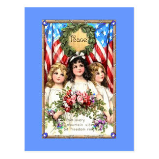 Vintage Americana Image on T shirts, Mugs, More Postcard