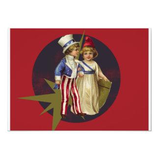 Vintage americana invitación 12,7 x 17,8 cm