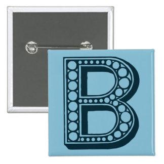 Vintage americana monograma ornamental B Pin