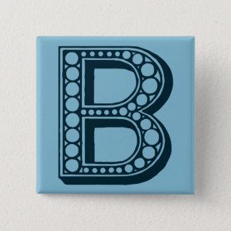 Vintage Americana, ornamental monogram B Pinback Button