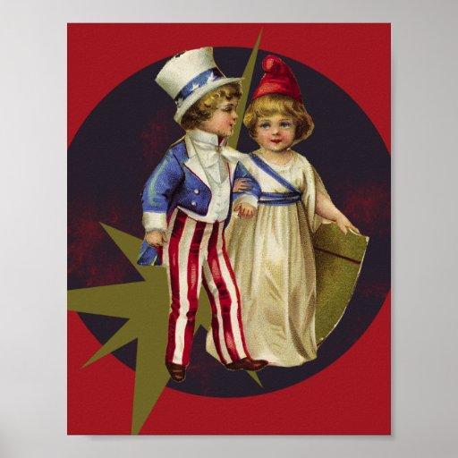Vintage Americana Print