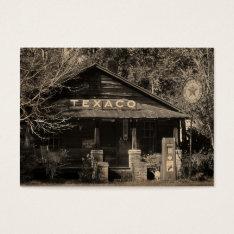 Vintage Americana Texaco Photo ATC Business Card at Zazzle