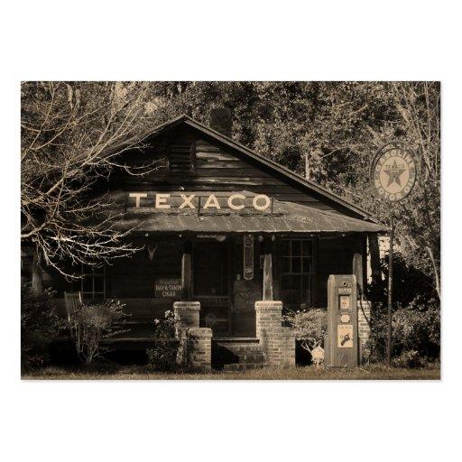 Vintage Americana Texaco Photo ATC Business Card Templates