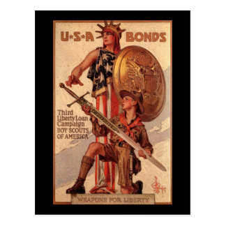 Vintage Americana USA Bonds Post Card