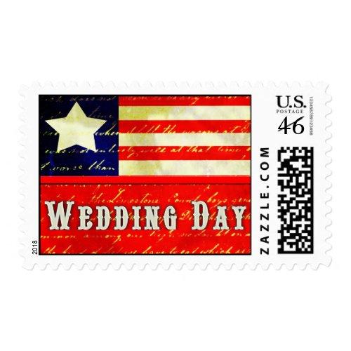 Vintage Americana Wedding Theme stamp