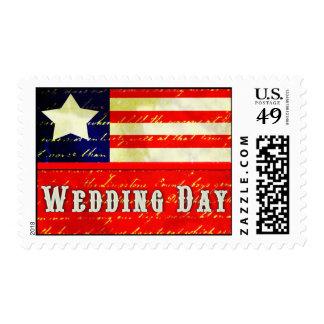 Vintage Americana Wedding Theme Postage