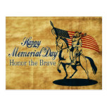 Vintage americano de la bandera del caballo de postal