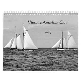 Vintage Americas Cup 2013 Calendar