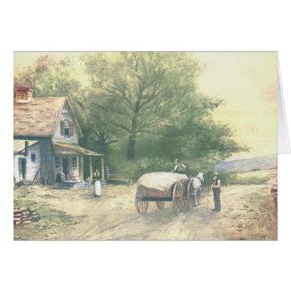 Vintage Amish Farm Scene Greeting Cards