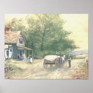 Vintage Amish Farm Scene Posters