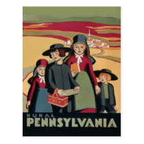 Vintage Amish Rural Pennsylvania Travel Tourism Postcard