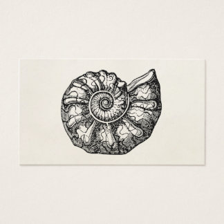 Vintage Ammonite Seashell Fossil Shell Template Business Card