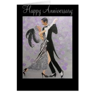 Vintage, amor intemporal, tarjeta del aniversario