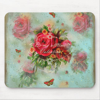 vintage, amor valentinesday de la tarjeta del día alfombrilla de ratón