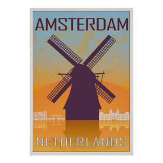 Vintage Amsterdam poster