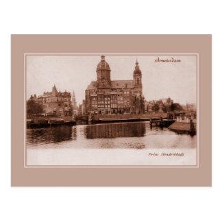 Vintage Amsterdam Prins Hendrikkade Tarjetas Postales