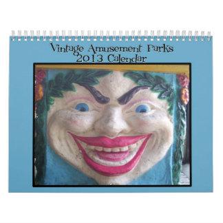 Vintage Amusement Parks 2013 calendar