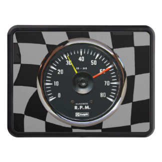 Vintage Analog Auto Tachometer Racing Hitch Cover