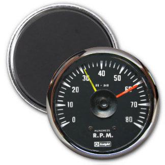 Vintage Analog Auto Tachometer Round Magnet