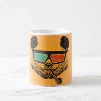 Vintage anaranjado panda 3-D glasses Taza