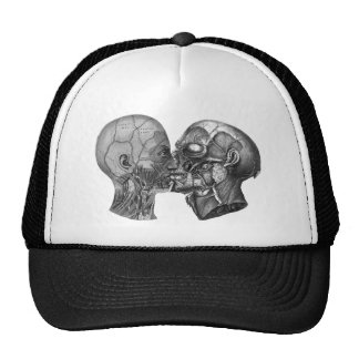 Vintage Anatomical Head kissing Trucker Hat