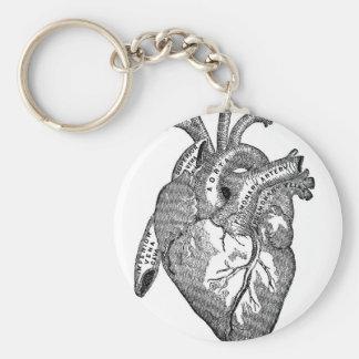 Vintage Anatomical Heart Keychain