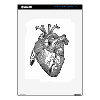 Vintage Anatomical Heart Skins For iPad 3