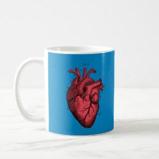 Vintage Anatomical Heart Valentine's Day Love Coffee Mug