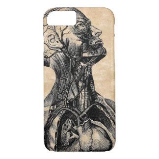 Vintage Anatomical Illustration of the Upper Body iPhone 7 Case