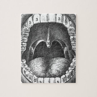 Vintage Anatomical Mouth Jigsaw Puzzle
