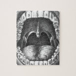 Vintage Anatomical Mouth Jigsaw Puzzles