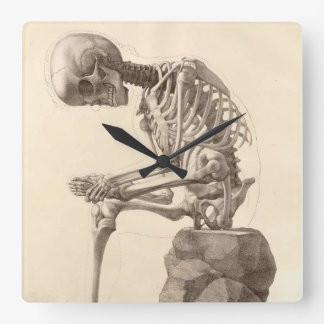 Vintage Anatomical Skeleton Clock