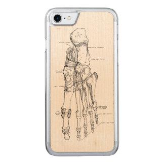Vintage Anatomy Art Bones of the Foot Carved iPhone 8/7 Case