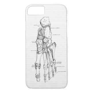 Vintage Anatomy Art Bones of the Foot iPhone 8/7 Case