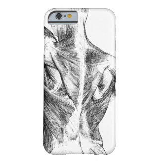 Vintage Anatomy   Back Muscles  (circa 1852)   B/W Barely There iPhone 6 Case