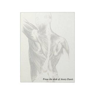 Vintage Anatomy | Back Muscles (circa 1852) Notepad
