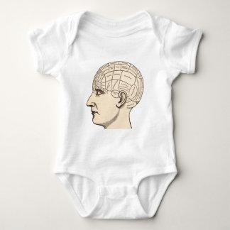 Vintage Anatomy Brain Map Image Baby Bodysuit