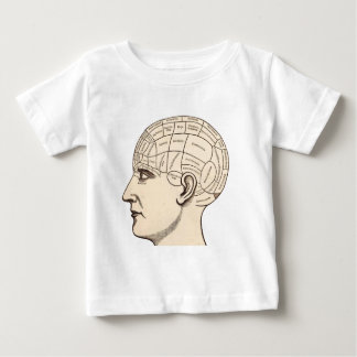 Vintage Anatomy Brain Map Image Baby T-Shirt
