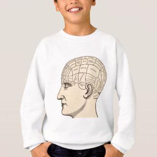 Vintage Anatomy Brain Map Image Sweatshirt