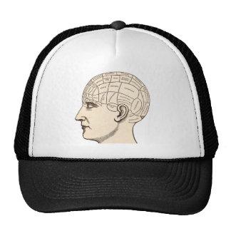 Vintage Anatomy Brain Map Image Trucker Hat