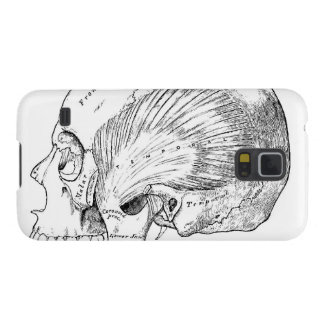 Vintage Anatomy Drawing Human Temporal Muscle Case For Galaxy S5