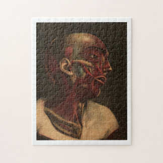 Vintage Anatomy | Head, Neck, and Shoulders Jigsaw Puzzle